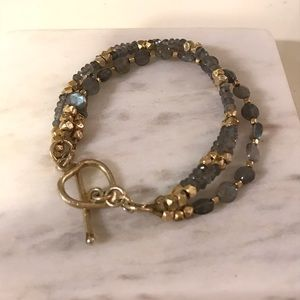Jewelry - Blue and gold crystal bracelet
